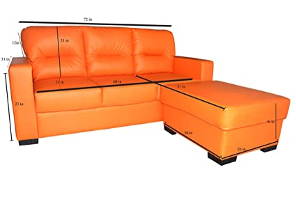 Outstanding Styles Sofa Miya 3 1 Four Seater Sofa Set Orange Amazon Cjindustries Chair Design For Home Cjindustriesco