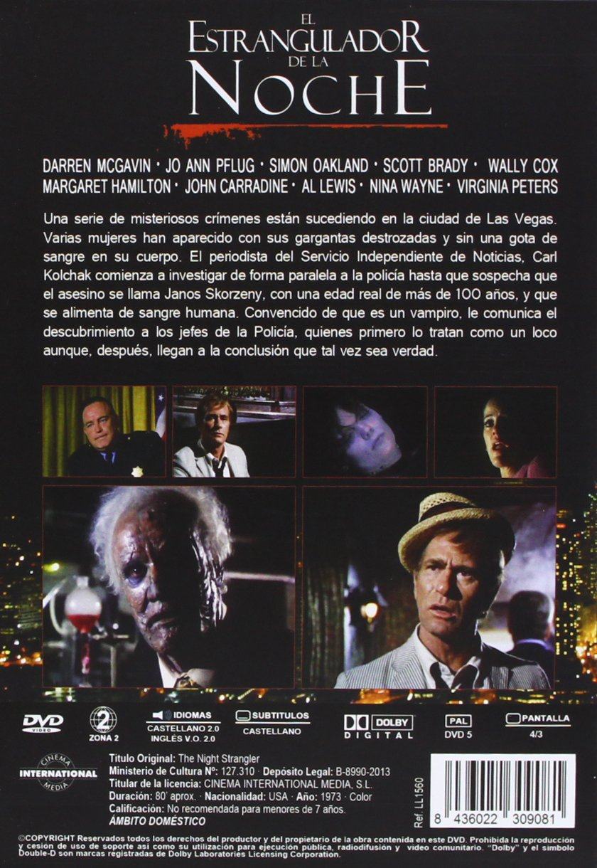 The Night Strangler 1973 TV Movie - Region 2 PAL Import, plays in