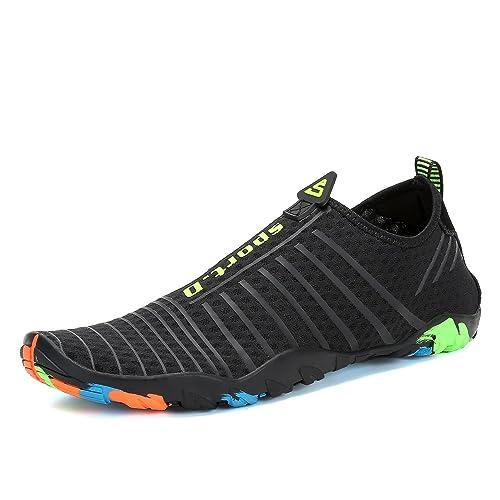 Voovix Zapatos de Agua Mujer Hombre Escarpines Transpirables Water Shoes  Ligera Zapatillas de Surf Playa Natación Yoga Piscina  Amazon.es  Zapatos y  ... cca4781aaf69