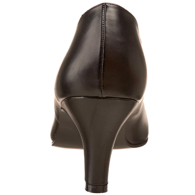 Pleaser DIVINE-420W Damen Plateau Pumps, Schwarz (Schwarz (Blk Faux Leather)), Leather)), Leather)), 43 EU 211070
