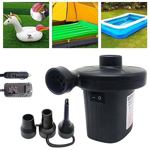 Dracarys Bomba eléctrica bidireccional Inflador Uso en el hogar y 3 boquillas Inflador rápido Inflador y inflador 2 en 1 Inflador portátil de colchón ...