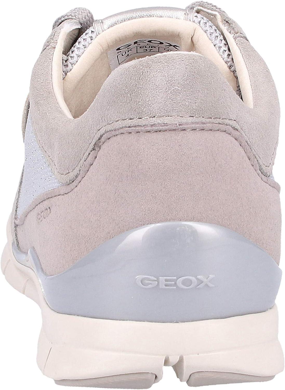 Geox D Sukie A, Basses Femme Gris Lt Grey, 42 EU