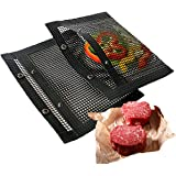 """Joybaker Large Mesh Grill Bags (2 Pack) 15""""x12"""" BBQ Outdoor Grilling Reusable, Heat Resistant, Durable and Non-Stick Mesh Bar"""