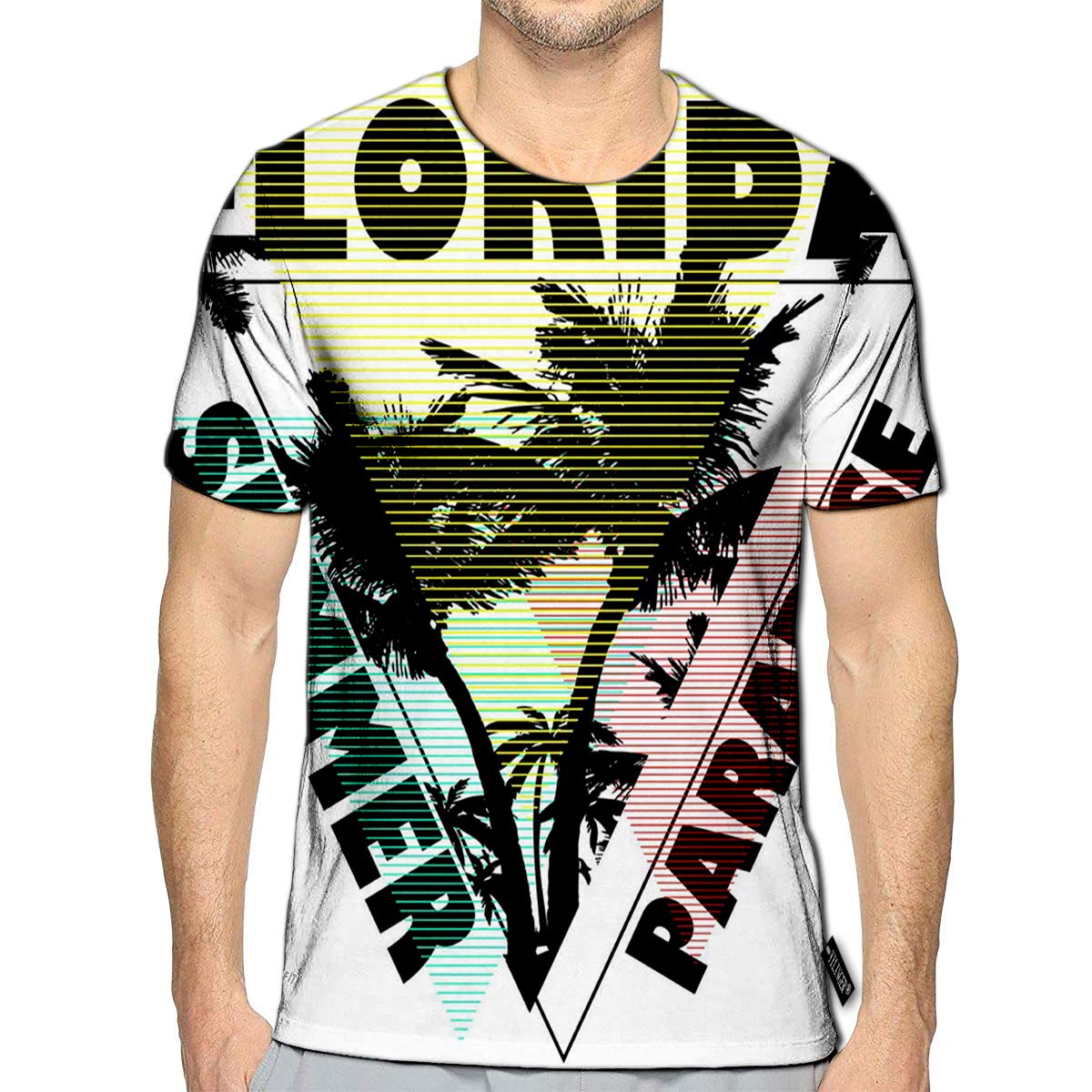 YILINGER T-Shirt 3D Printed Palm Trees of California Old Casual Tees
