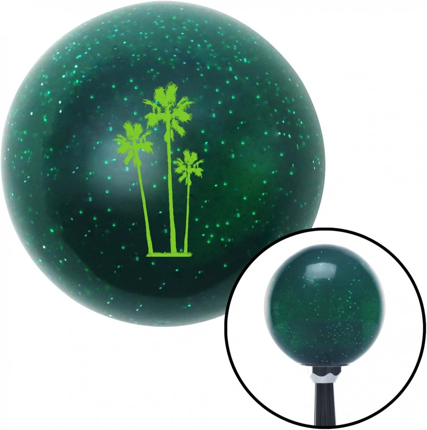 American Shifter 64101 Green Metal Flake Shift Knob with 16mm x 1.5 Insert Green Group of Palms