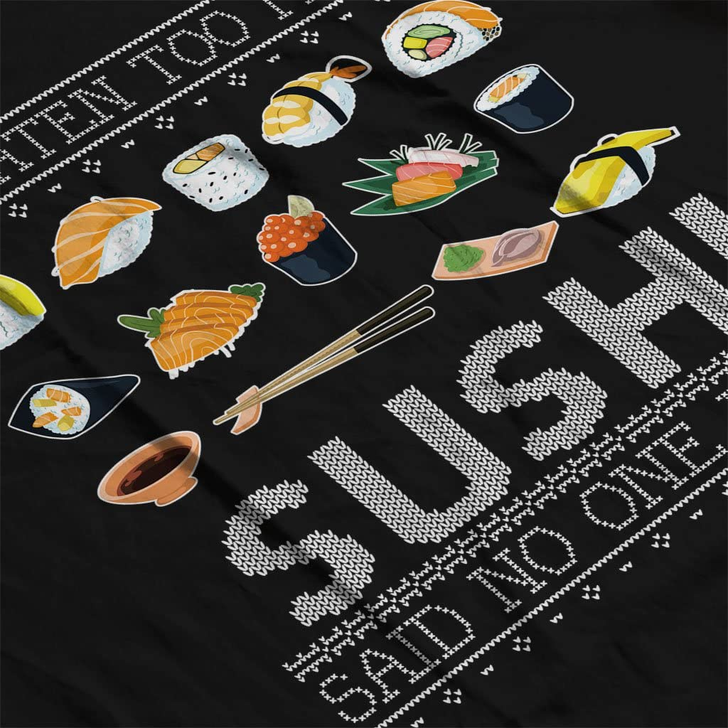 Ive Eaten Too Much Sushi Said No One Ever Christmas Knit Pattern Kids Sweatshirt