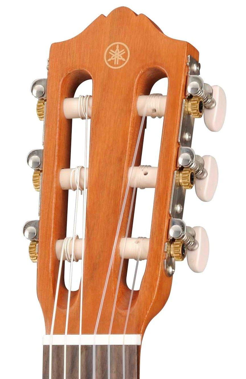 Yamaha GL1 Guitalele - Mini Guitarra de Madera con las Dimensiones de un Ukelele, Escala de 17 Pulgadas, Guitarra Pequeña con Funda, 6 Cuerdas de Nylon, ...