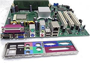 Dell Genuine Dimension 1100 B110 Tower Chipset Intel D865GV Motherboard Part Numbers: WF887, DE051, CF458