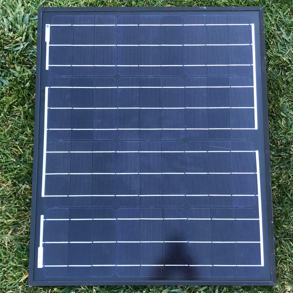 Acopower All Black 50 Watt 50w Mono Solar Panel For 12 Charger Further Off Grid Power System Also Street Light Circuit Volt Battery Charging Garden Outdoor