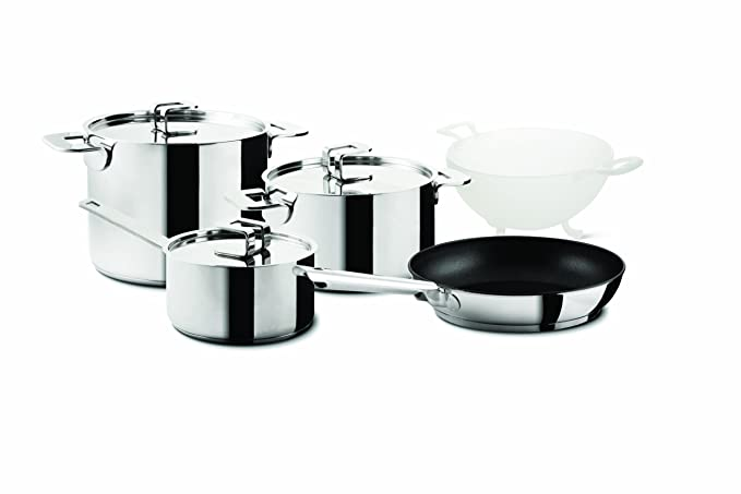 24 cm Silver Tefal C9734616 Comfort Max Stainless Steel Stock Pot and Lid