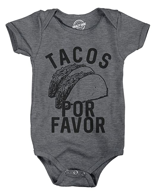 b7ca9e0830c6 Amazon.com  Creeper Tacos Por Favor Funny Cinco De Mayo Bodysuit for ...