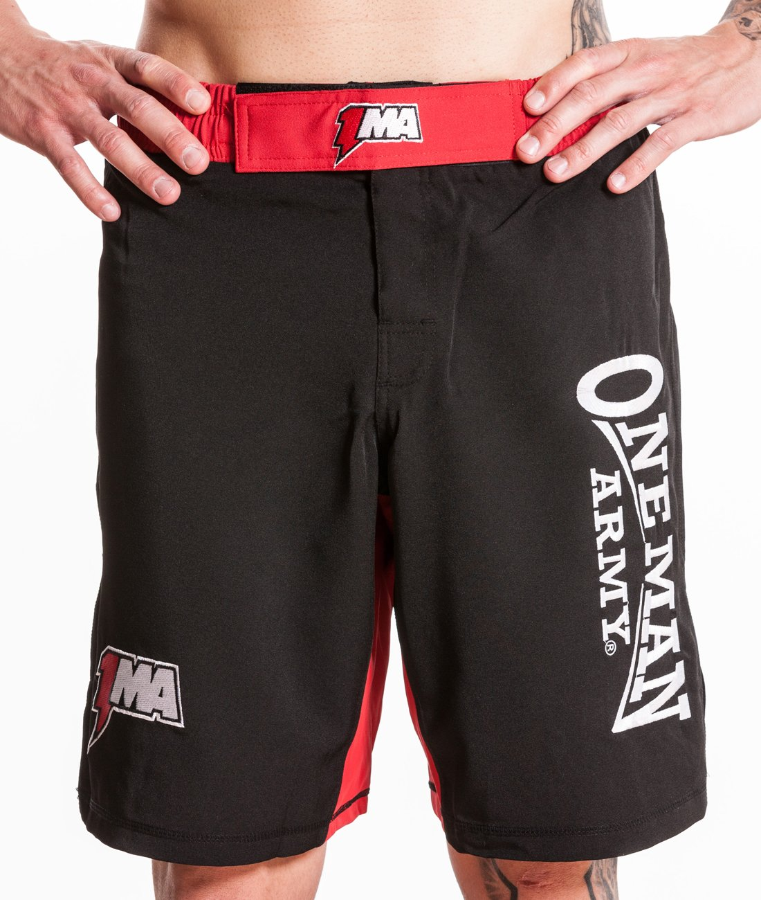 ONE MAN ARMY Fightshorts / Short / Trainingshose kurz / Pants / Fitness / Bodybuilding / MMA / Kampfsport / Casual / Fightshorts