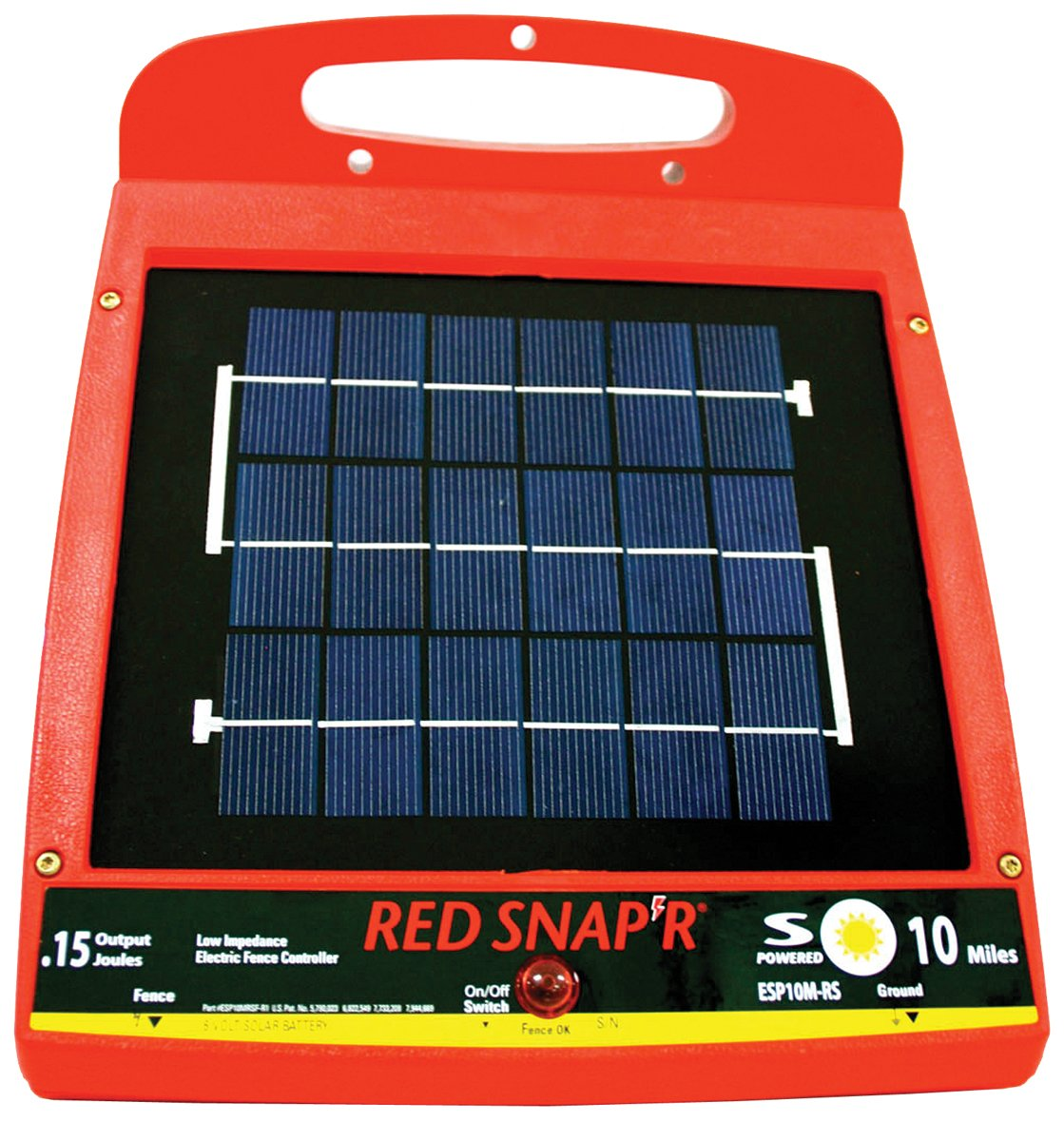 Amazon red snapr esp10m rs 10 mile solar low impedance fence amazon red snapr esp10m rs 10 mile solar low impedance fence charger zareba garden outdoor sciox Choice Image