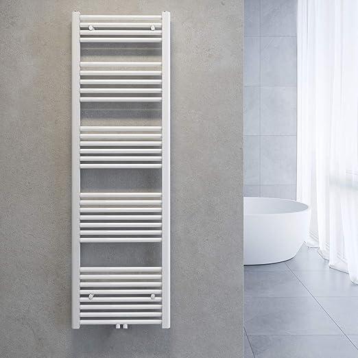 Handtuchheizkörper Badheizkörper Handtuchwärmer 1500x500mm Weiß gerade