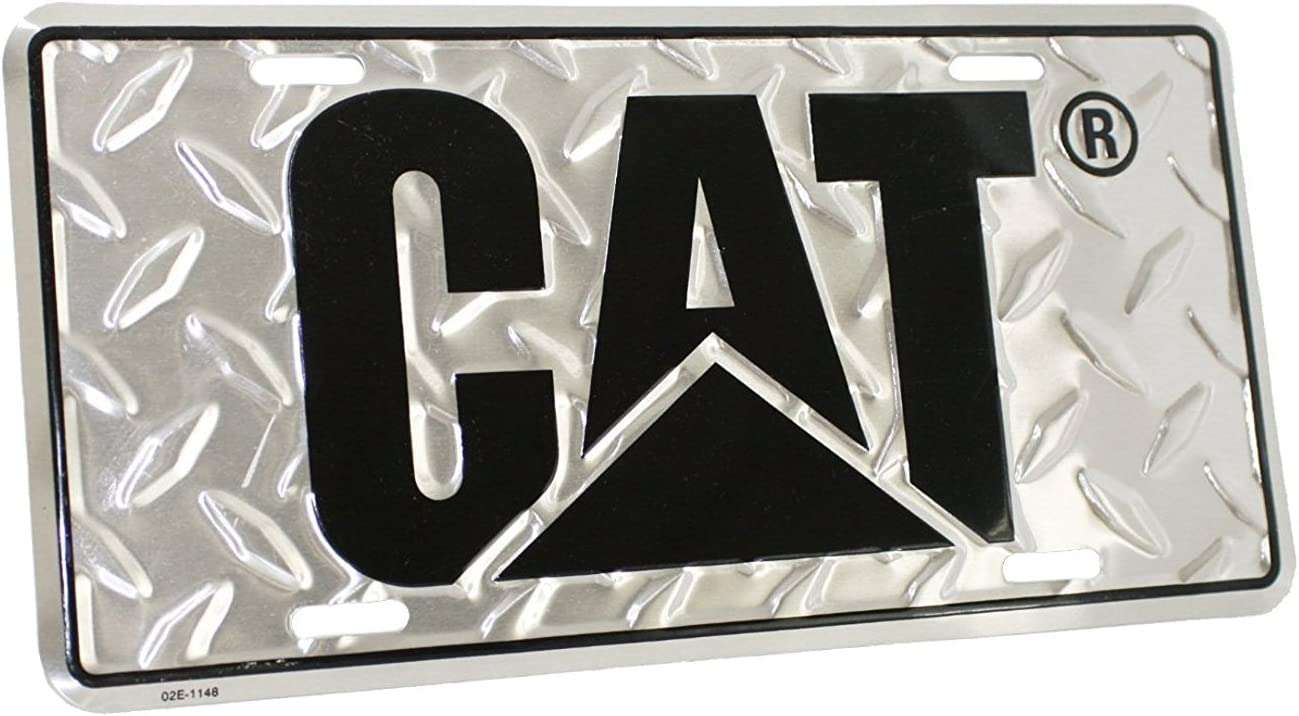 Caterpillar CAT Heavy Equipment Diamond Plated Aluminum Novelty License Plate