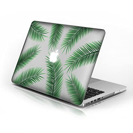 huge selection of 6bfde 45b92 Rubberized Hard Case for Macbook Air 13 Inch model number A1369 and A1466,  Palm Tree Leaves design with clear bottom case, Come with Keyboard Cover