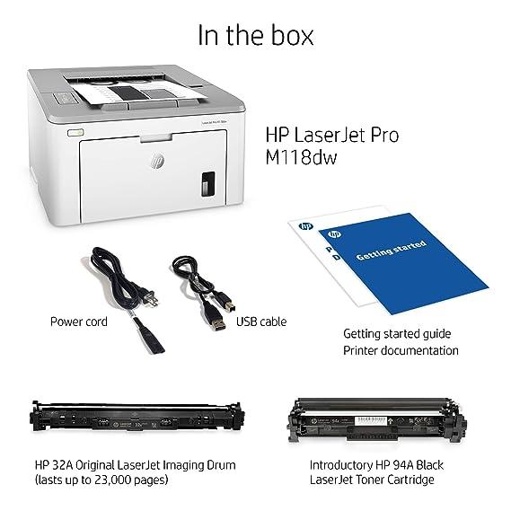 Amazon.com: HP Laserjet Pro M118dw Impresora láser monocromo ...