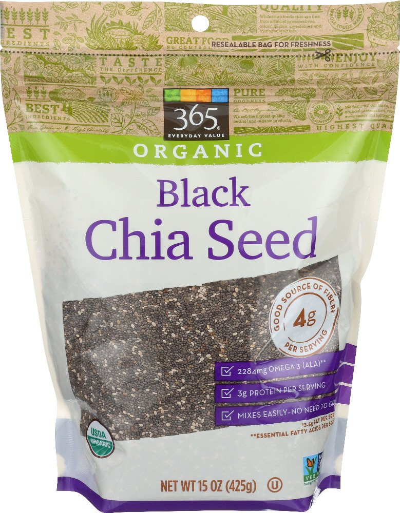 365 Everyday Value, Organic Black Chia Seed, 15 oz