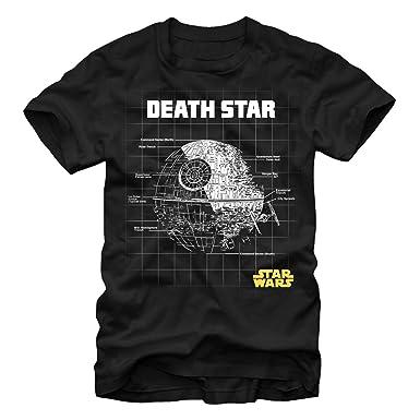 Amazon.com: Fifth Sun Star Wars Star Schematic Adult T-Shirt ... on