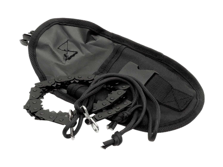 BE-X Faltbare Survival Kettens/äge Falts/äge Compact mit Griffen aus Nylon und G/ürteltasche