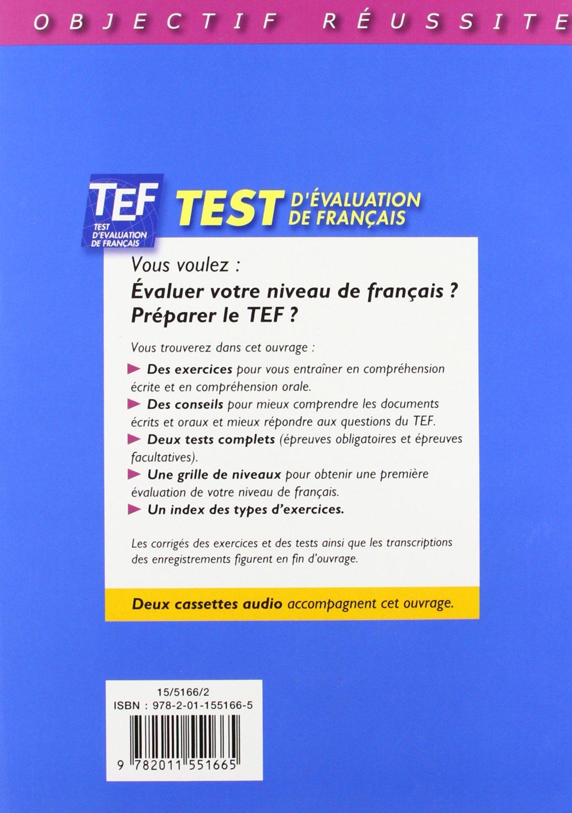 Test d'evaluation de Francais: Livre d'entrainement avec