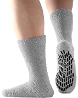 Non Skid Hospital Socks / No Slip Socks – Best Fuzzy Gripper Socks - Slipper Socks