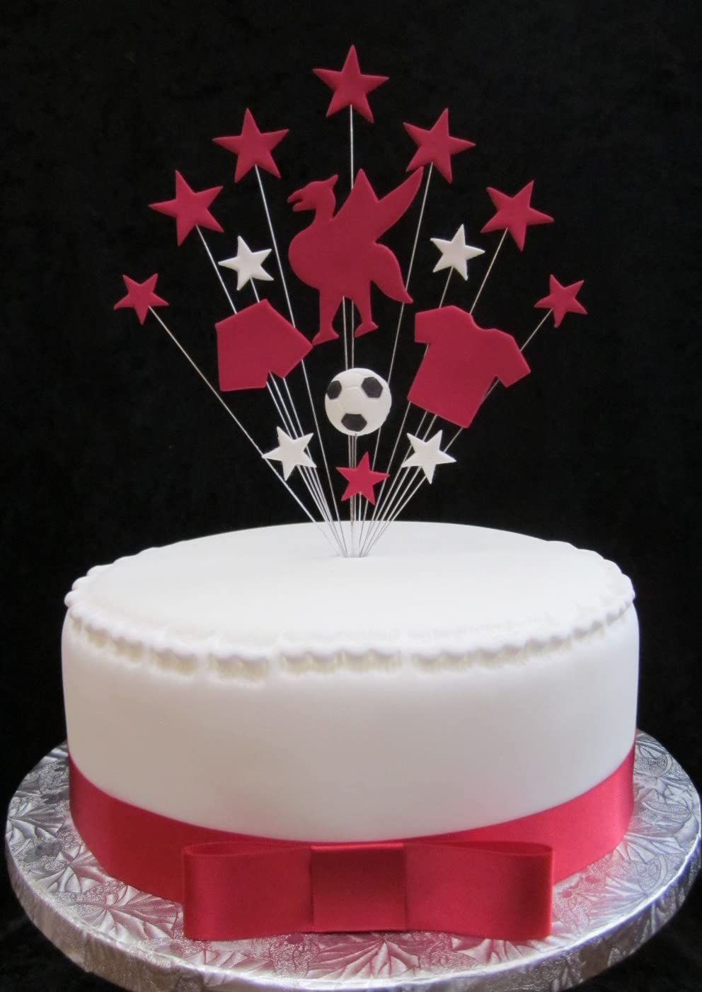 Strange Liverpool Football Birthday Cake Topper Ideal For A 20Cm Cake Plus Birthday Cards Printable Benkemecafe Filternl