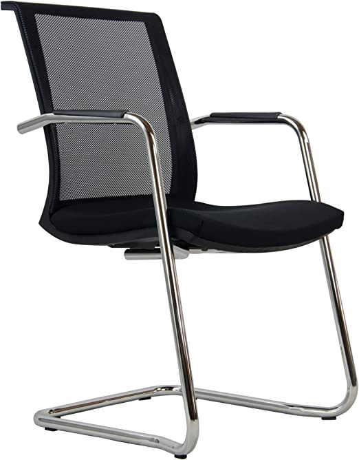 Schwinger ISO Swing Bürostuhl Besucherstuhl Konferenzstuhl Stuhl schwarz Stuhl