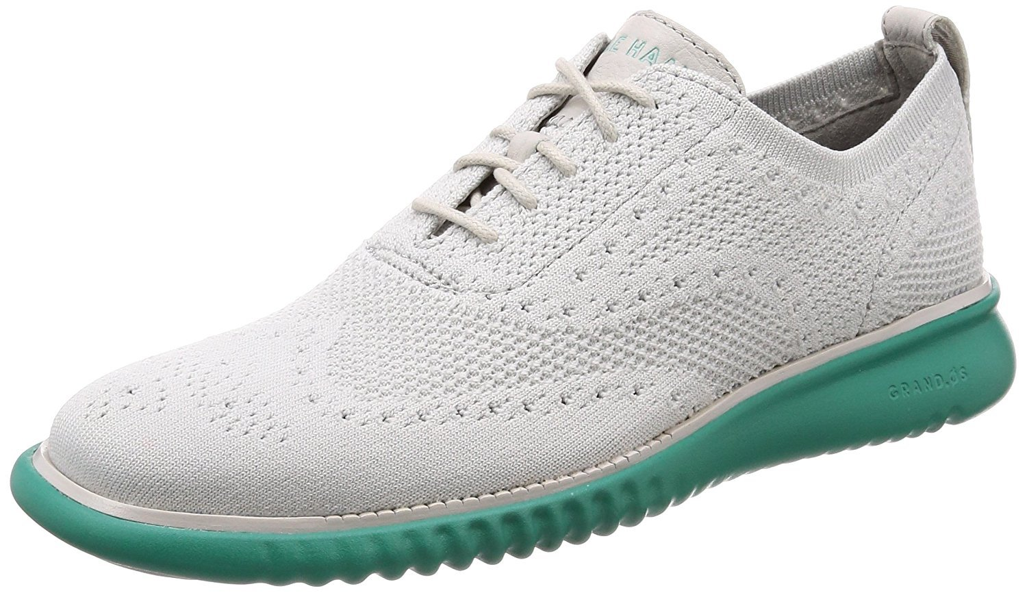 (コール ハーン) COLE HAAN Men`s 2.Zerogrand Stitchlite Oxford 男性のオックスフォードシューズ(並行輸入品) B07D81MDRN 8.5(M)US|Vapor Gray Knit-pool Green