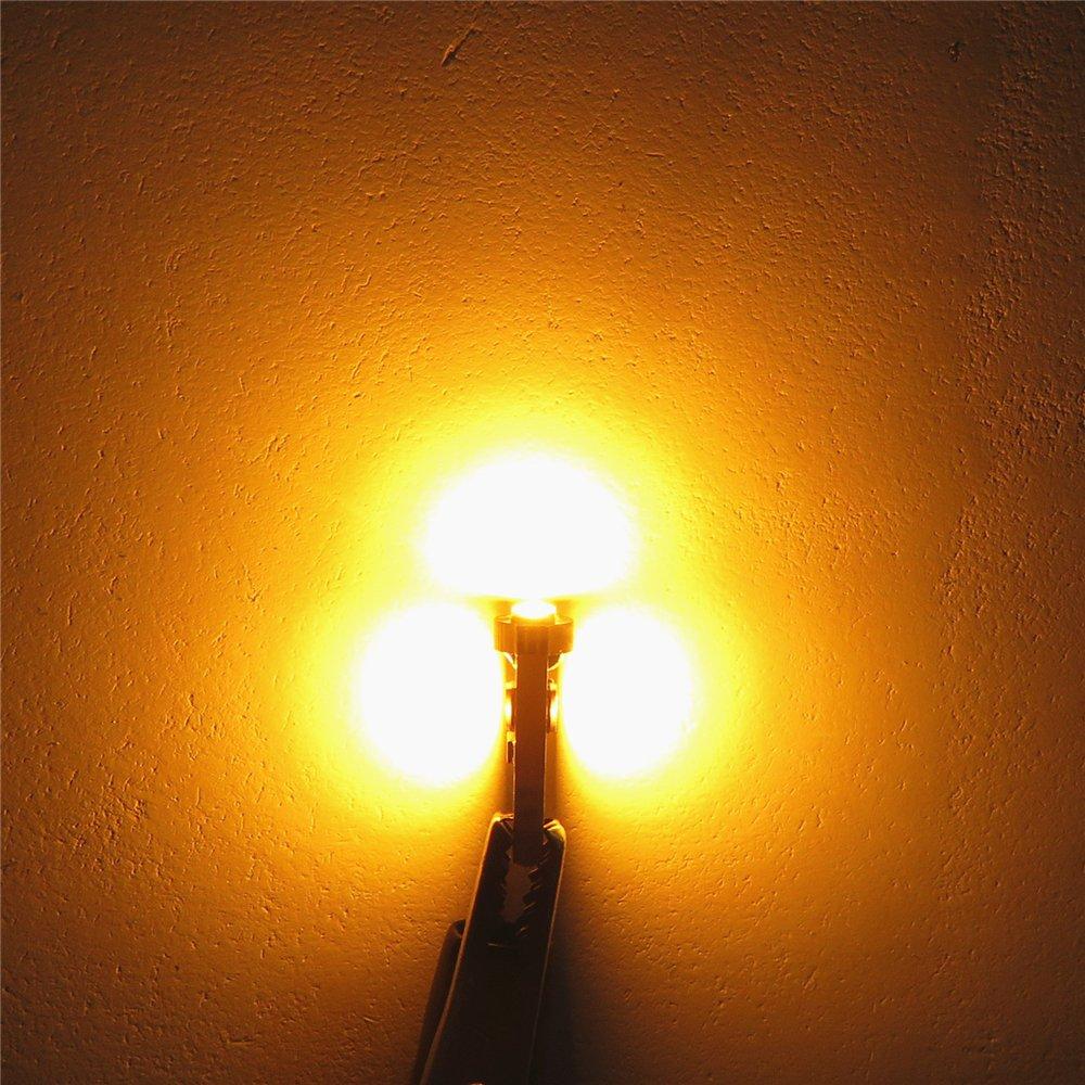 WLJH 10x T5 3-3030SMD Lampadina LED bianca pura Cruscotto cruscotto a grappolo 74 70 57 17