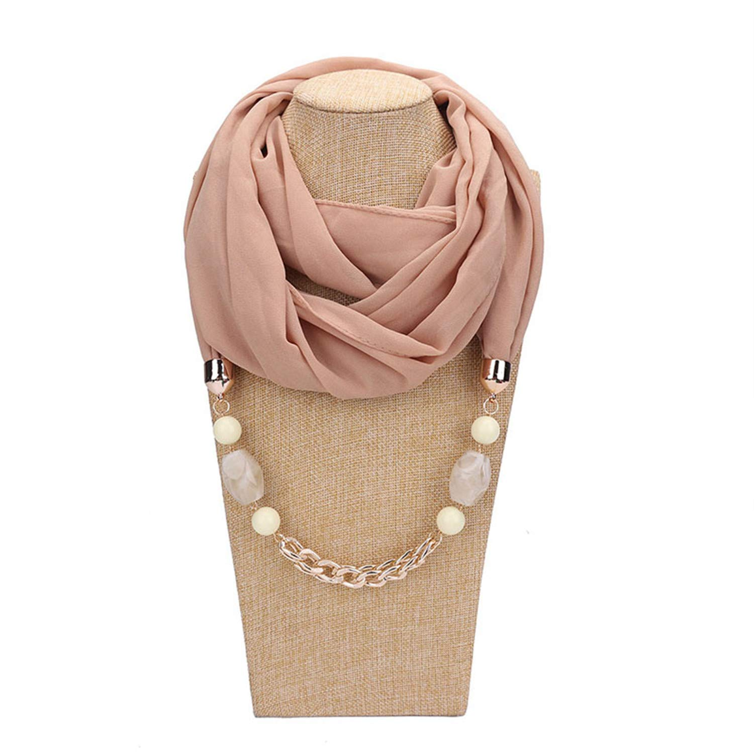 Scarf For Women Accessories Hijab Femme Elegant Pendants Scarf EP Resin Alloy Pendant Scarf For Girl