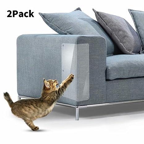 In hand Muebles Cat Scratch, 2 PCS Clear Premium Heavy Duty Protector de sofá de Mascota de Vinilo Flexible Protectores para Proteger Sus Muebles, ...