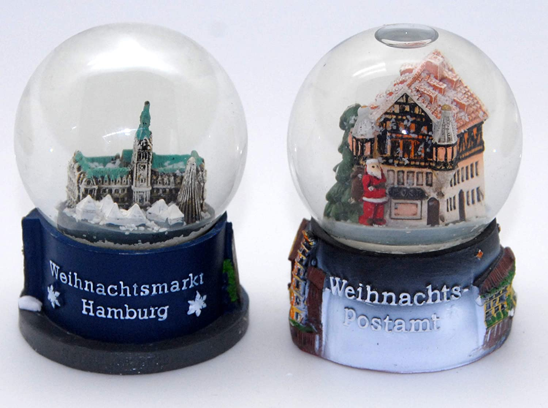 diametro 65 mm Minium Collection 3-22-53-2 palline souvenir mercatino di Natale tedesco Amburgo dolci con bolle daria