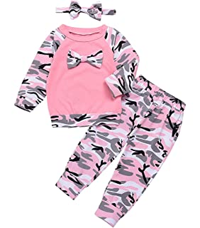 e5f648bc33773 Happy Kido Toddler Baby Boys Girls Clothes Camouflage Outfit Long Sleeve  Sweatsuit +Pants Set with