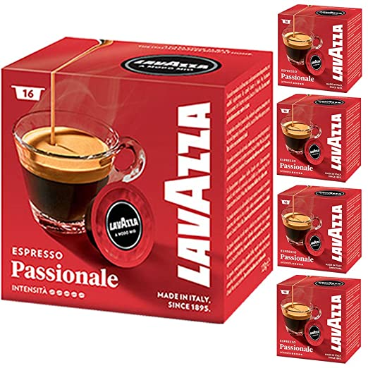 Lavazza A Modo Mio Espresso Passionale 16 Cápsulas de Cafetera ...