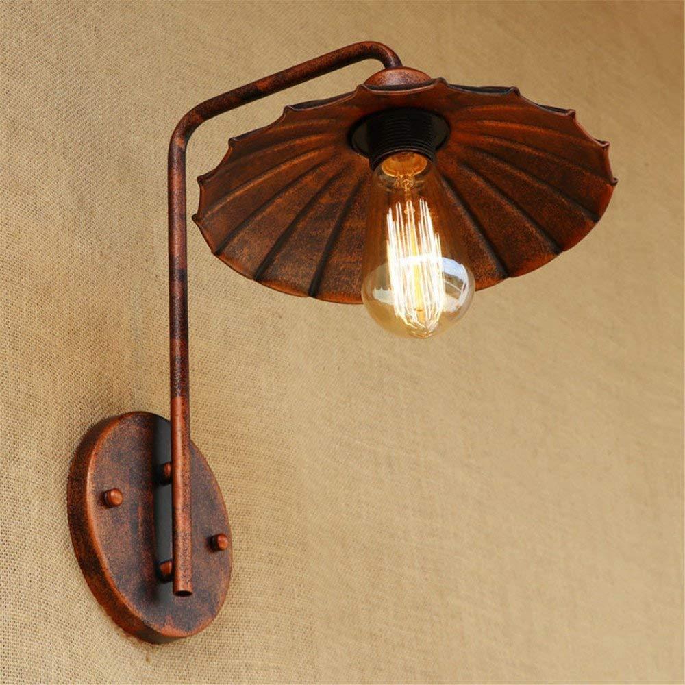 Eeayyygch Kreative Wandlampe der Wandlampe Retro Moderne Moderne postmoderne Bettschlafzimmerhotelwandleuchte Eisenrost einfache Wandlampe (Farbe   -, Größe   -)
