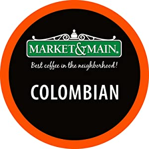 Market & Main One Cup, Colombian, Compatible with Keurig K-cup Brewers, 80 Count