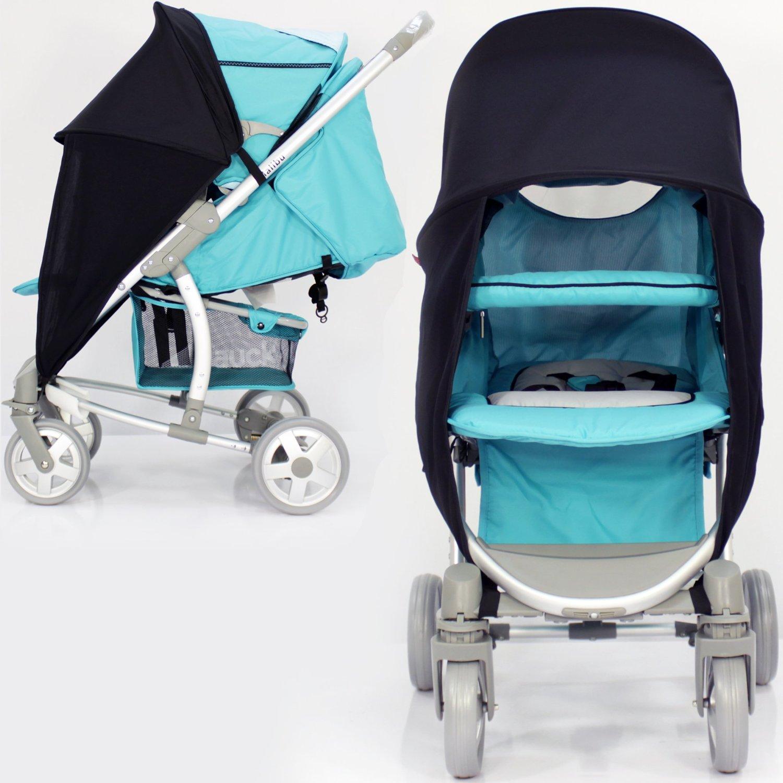 New 26Universal Flexible Foldable Baby Umbrella Parasol For Any Pram Pushchair Stroller Sky Blue