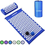 Lixada Yoga Mat Acupressure Mat and Pillow with 2pcs Spiky Massage Balls(Optional) for Back/Neck/Feet Pain Relief and…