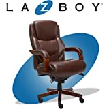 La-Z-Boy Delano Big & Tall Executive Office Chair | High Back Ergonomic Lumbar Support, Bonded Leather, Brown | 45833…