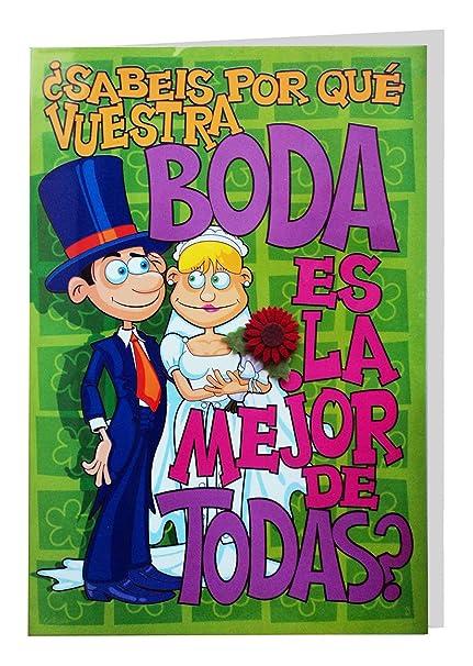 Tarjeta Felicitación Gigante Boda, 50 x 34 cm: Amazon.es ...
