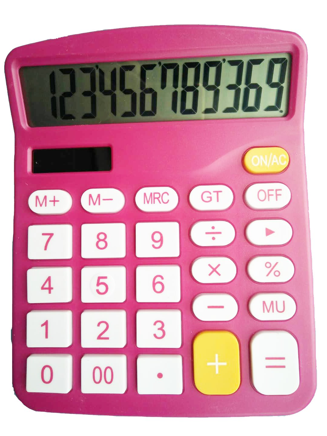 Calculator, Hi-Tech Electronic Desktop Calculator with 12 Digit Large Display, Solar Power LCD Display Office Calculator (Red) Muhwa eCommerce Co. Ltd