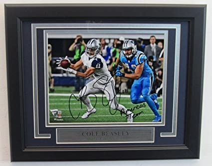 Signed Cole Beasley Picture - 8x10 Inscribed Framed Fanatics 136883 - Fanatics  Authentic Certified - Autographed bcb557cfc