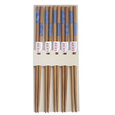 JapanBargain 3671-J 3671 Japanese Chopsticks, 9in, Blue/Natural