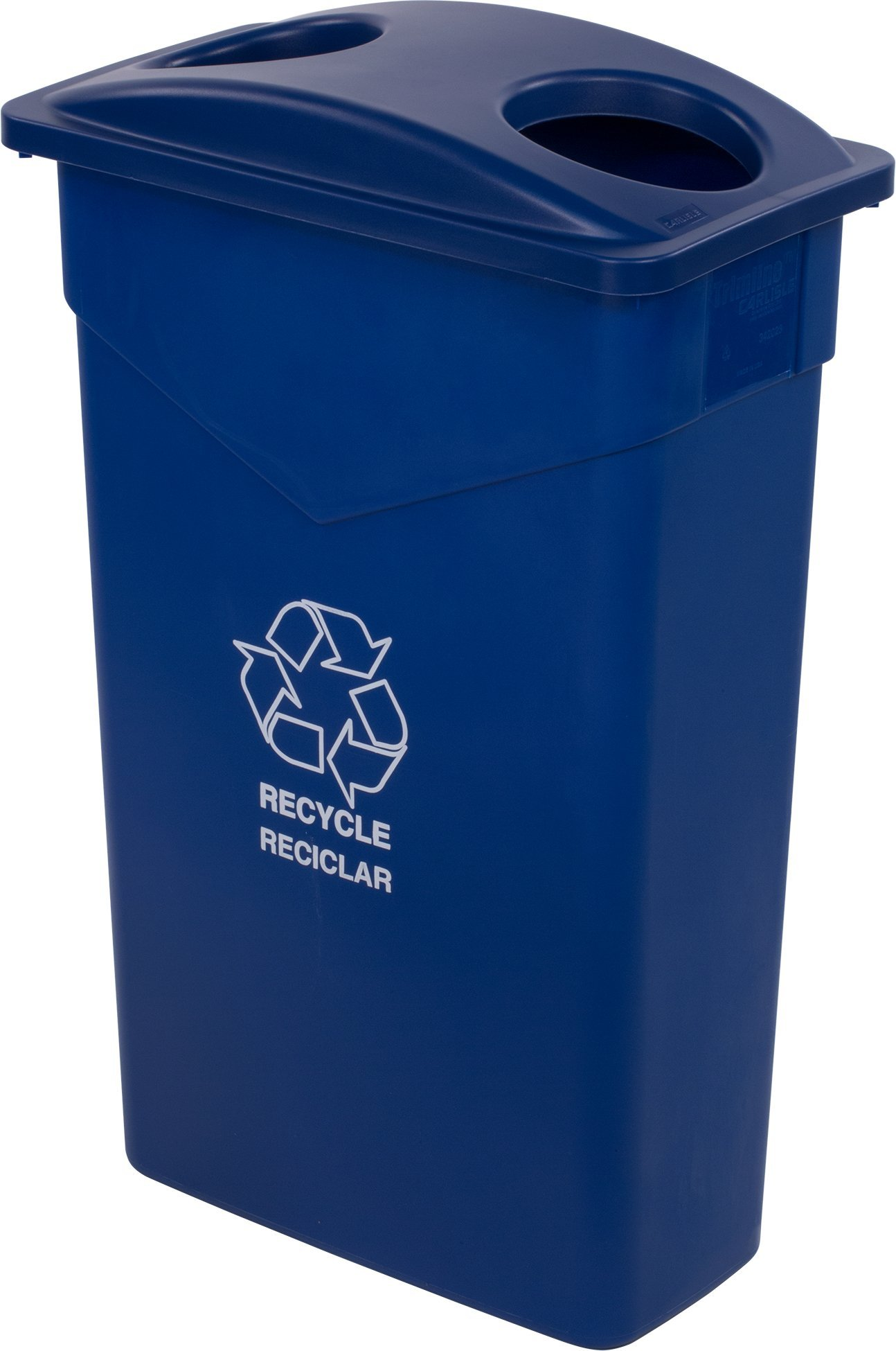 Carlisle 342023REC14 TrimLine LLDPE Recycle Can, 23 Gallon Capacity, 20'' Length x 11'' Width x 29.88'' Height, Blue by Carlisle (Image #5)