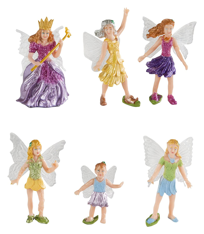 Safari Ltd Fairy Fantasies Toy Figurine TOOB, Including 6 Winged Fairies 689804