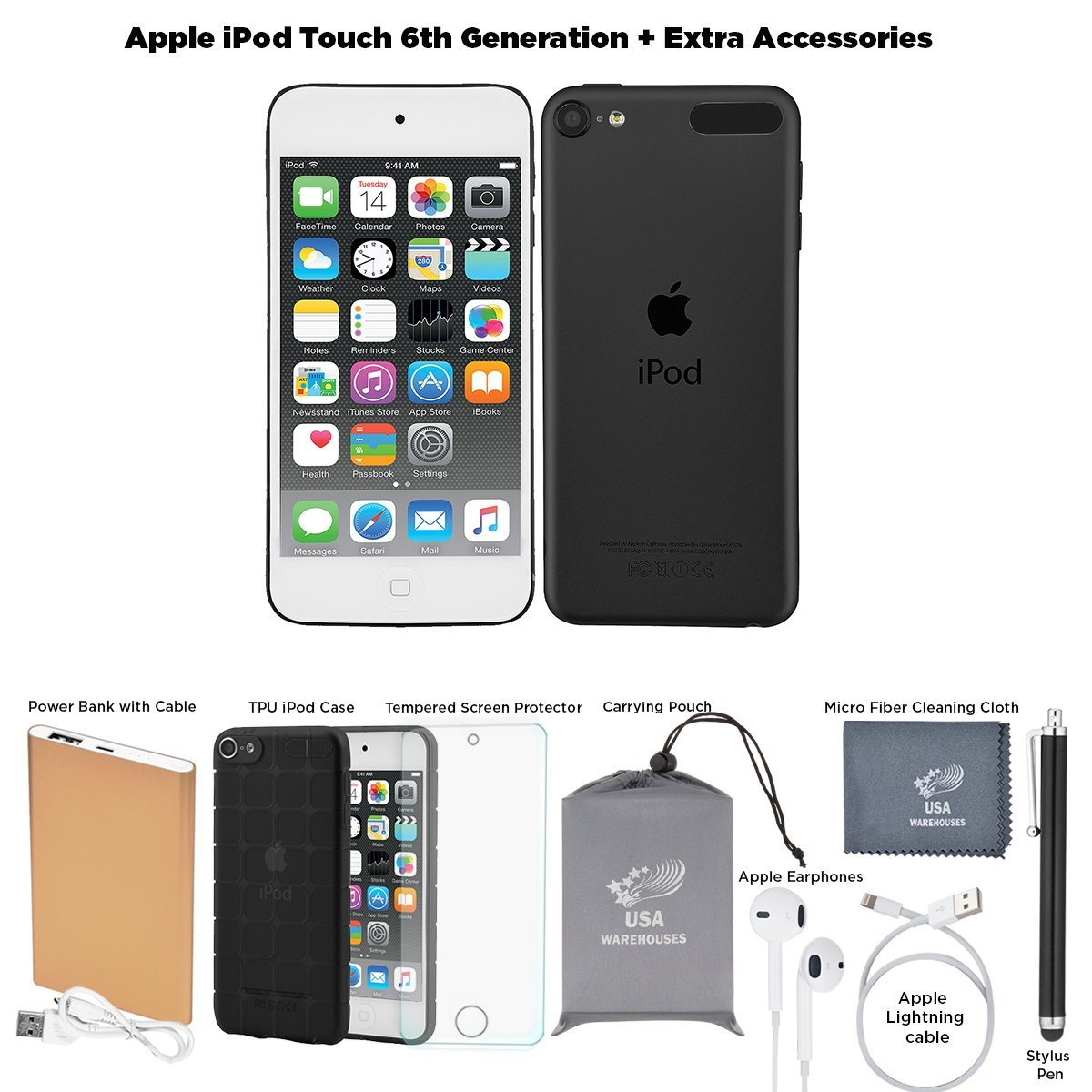 Amazon.com: Apple iPod Touch 6th Generation and Accessories, 32GB - Space  Grey: Home Audio & Theater