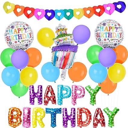 Kit de globos de colores para la fiesta de cumpleaños ...