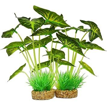 SODIAL Decoracion De Plantas De Acuario, Plantas Artificiales para ...