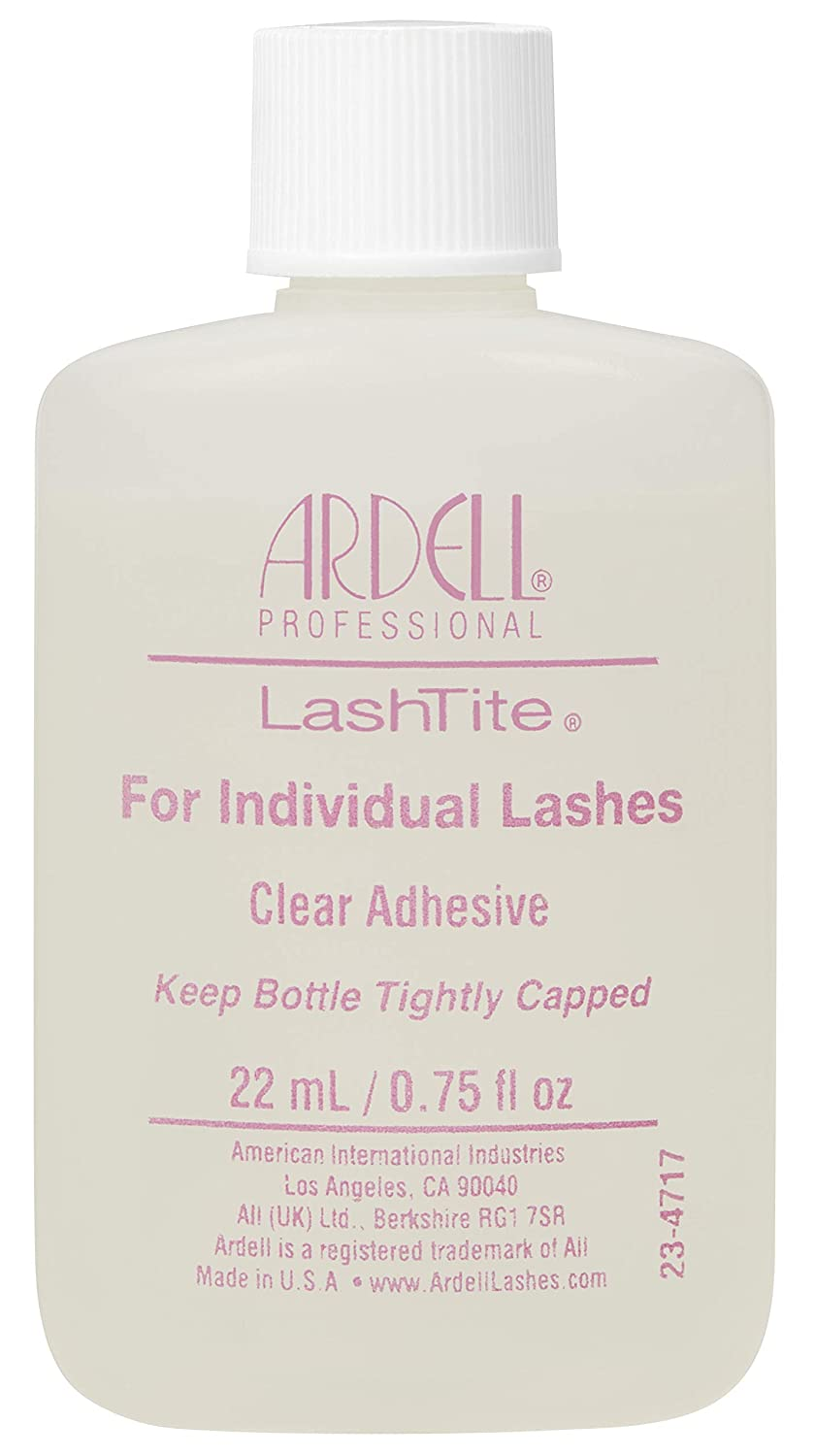 3a1e68263a0 Amazon.com : Ardell Lashtite Adhesive, Clear, 3/4-Fluid Ounce Bottle : Fake  Eyelashes And Adhesives : Beauty